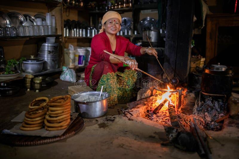 Cuisine népalaise image stock