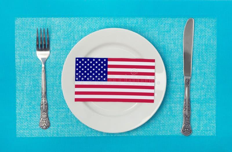 Cuisine nationale des Etats-Unis photographie stock