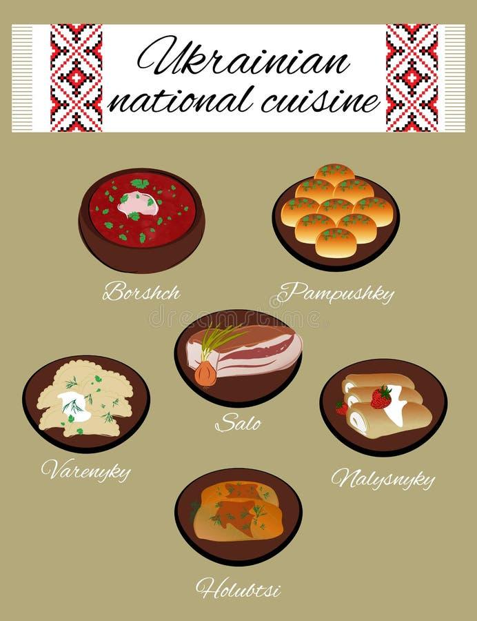 Cuisine nationale ukrainienne illustration libre de droits