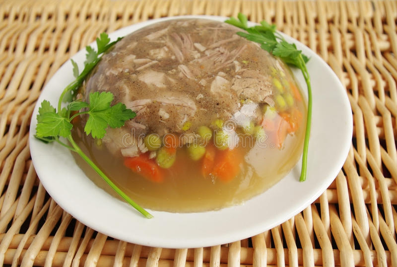 Cuisine polonaise aspic de porc photo stock image du for Cuisine polonaise