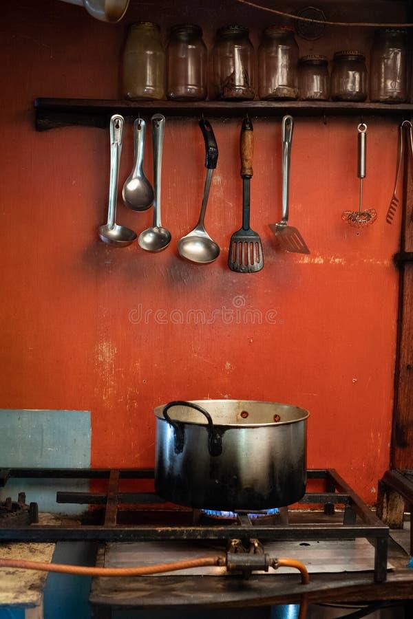 Cuisine rurale de restaurant chez St Johns gauche sur la c?te sauvage au Transkei, Afrique du Sud image libre de droits