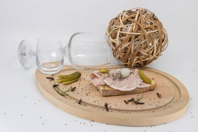 Cuisine rustique et rurale pour le nouveau Beaujolais et le festival de récolte photo stock