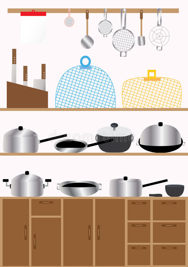 Cuisine Set_eps illustration libre de droits