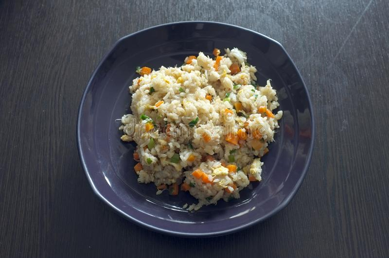 Cuisine thaïlandaise, riz frit au crabe photos stock