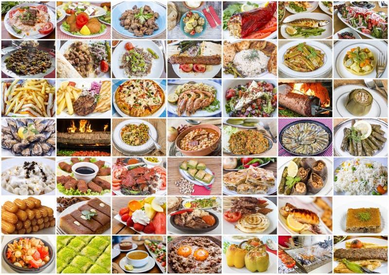 Cuisine turque ; Collage turc d?licieux traditionnel de nourritures image stock