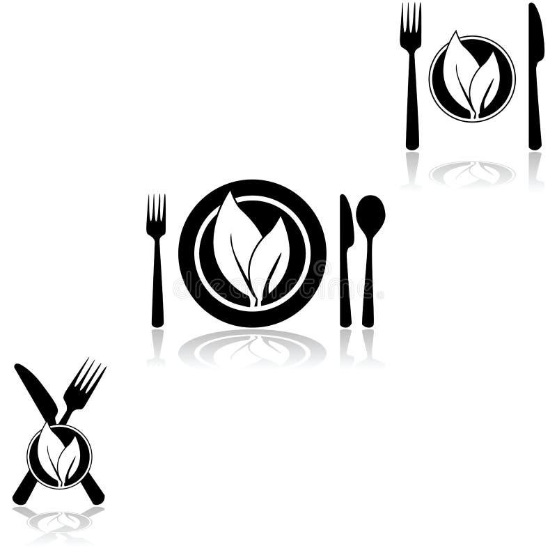 cuisine végétarienne illustration de vecteur