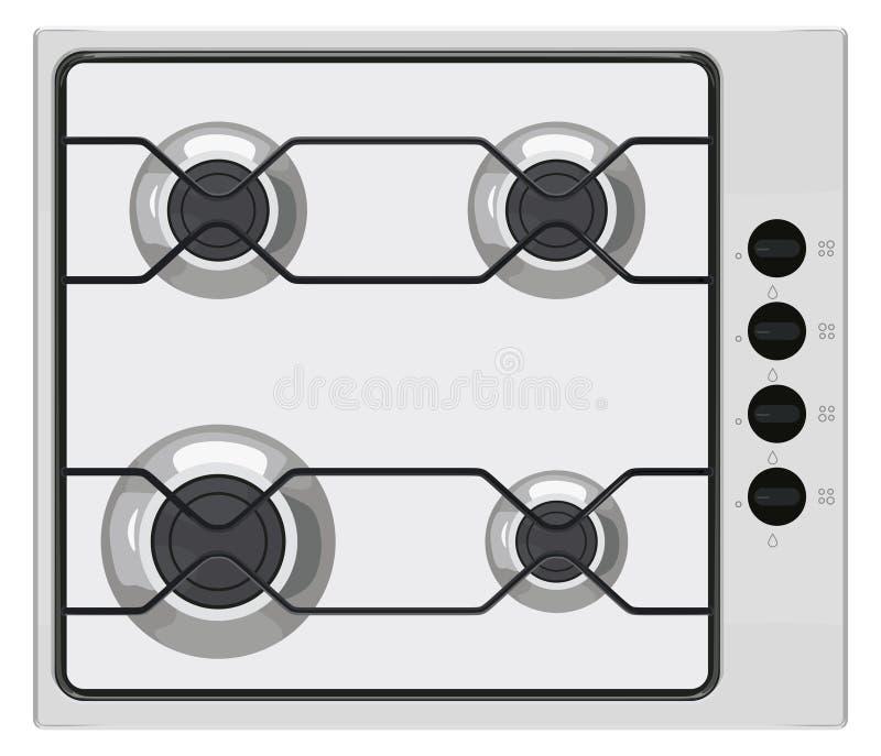 Cuisinière à gaz grise illustration stock