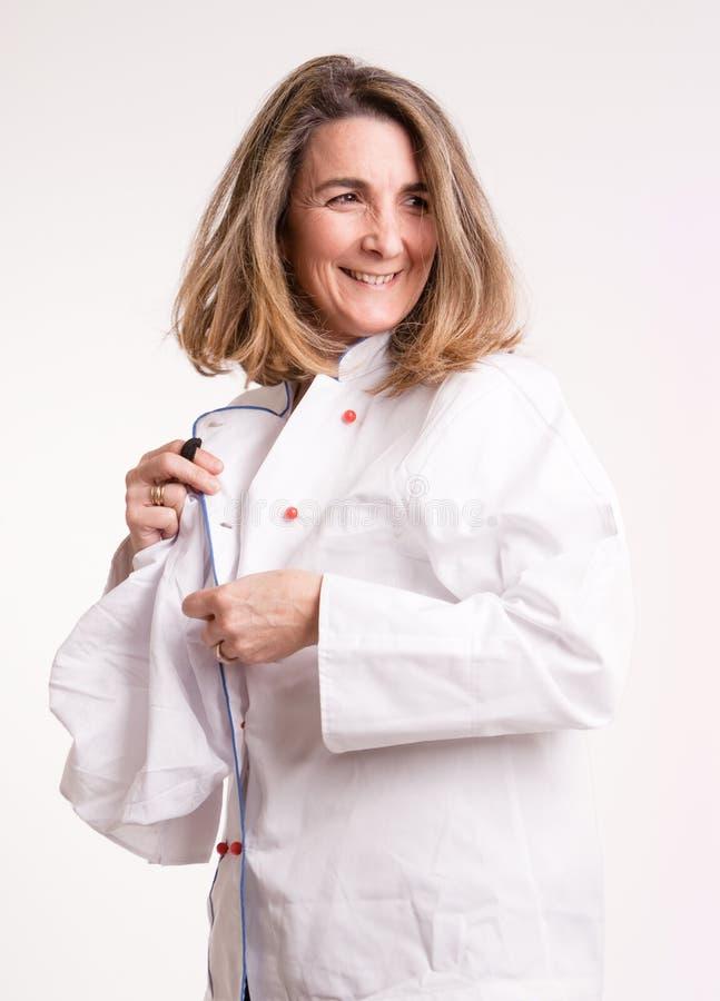 Cuisinier étant prêt images libres de droits