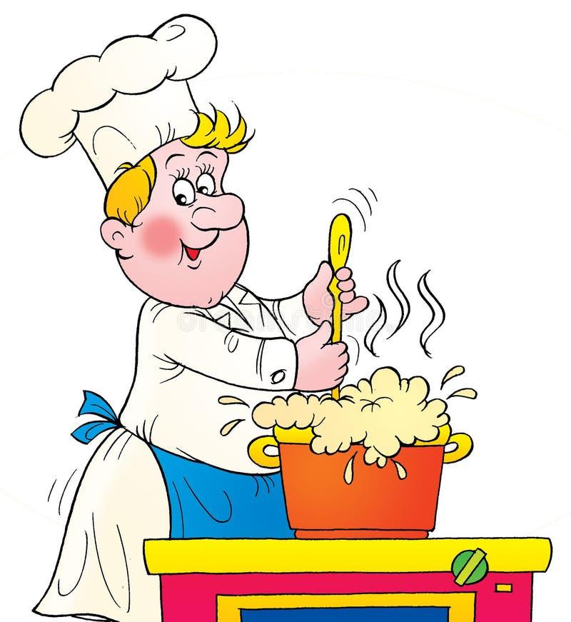 Cuisinier illustration stock