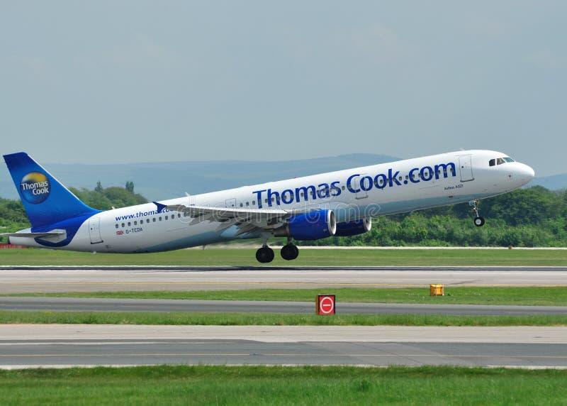 Cuisinier Airbus A320 de Thomas image stock