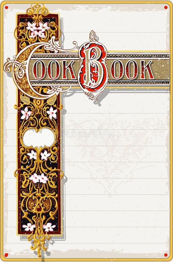 Cuisinier Book Ornamental Page de vintage illustration de vecteur