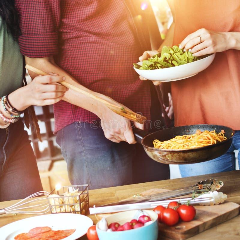 Cuisinier Cooking Concept de chef d'amis photographie stock