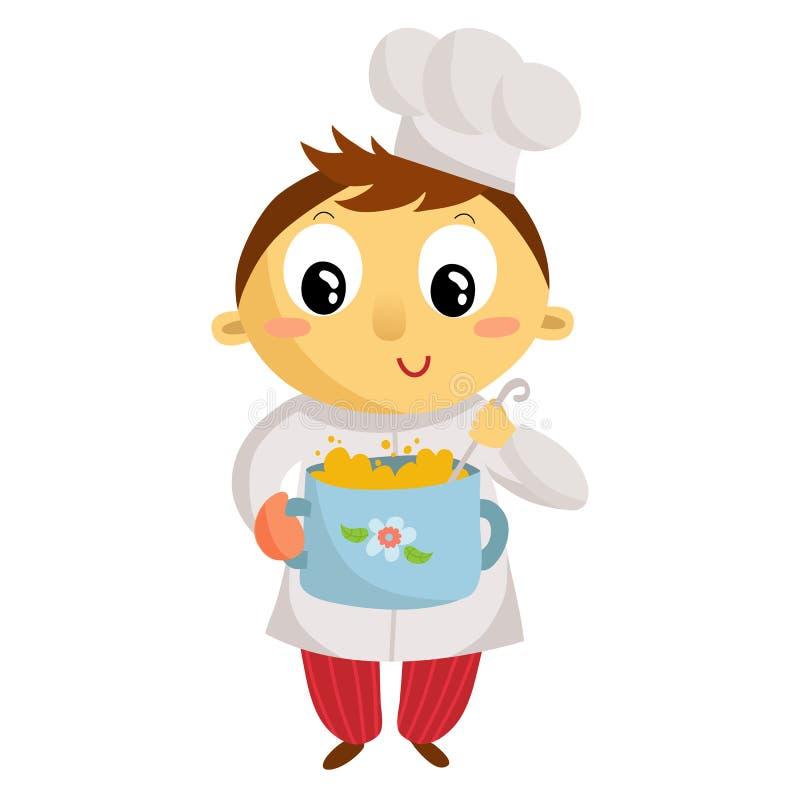 Cuisinier d 39 enfant personnage de dessin anim d 39 isolement - Cuisinier dessin ...