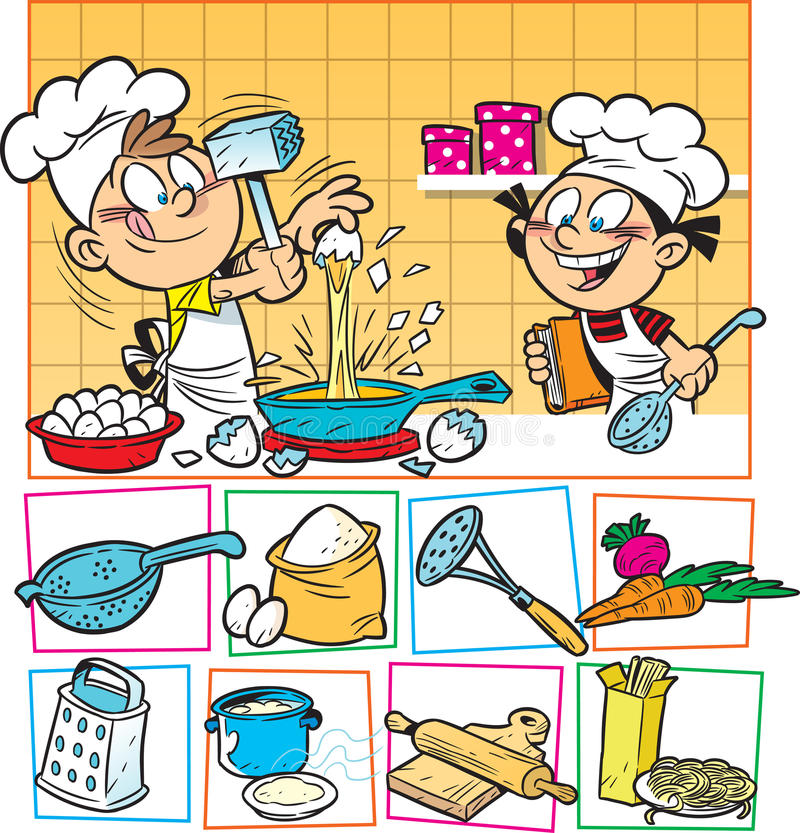 Cuisinier de gosses illustration stock