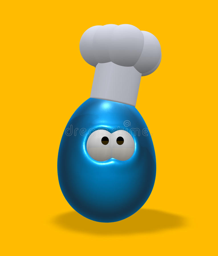 Cuisinier de Pâques illustration stock