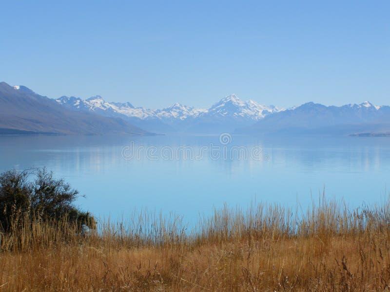 Cuisinier et lac Pukaki de support photo libre de droits