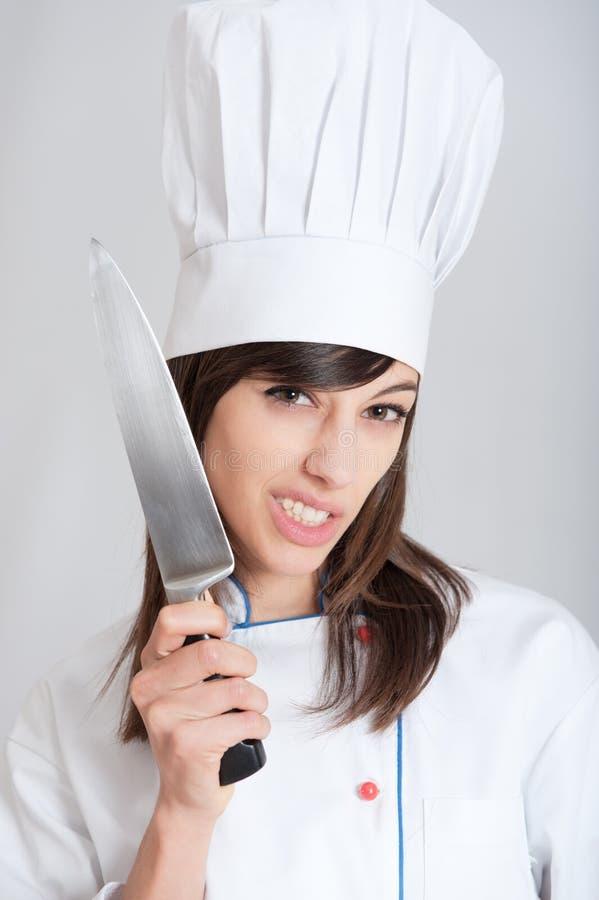 Cuisinier fou images stock