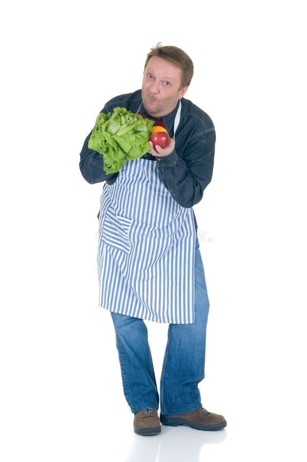 Cuisinier heureux images stock