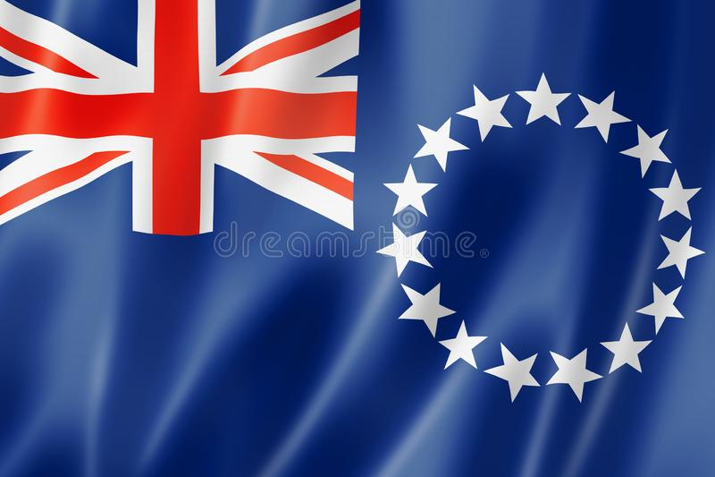 Cuisinier Islands Flag illustration de vecteur
