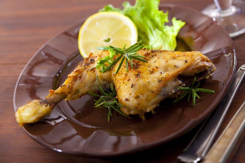 Cuisse de poulet images stock