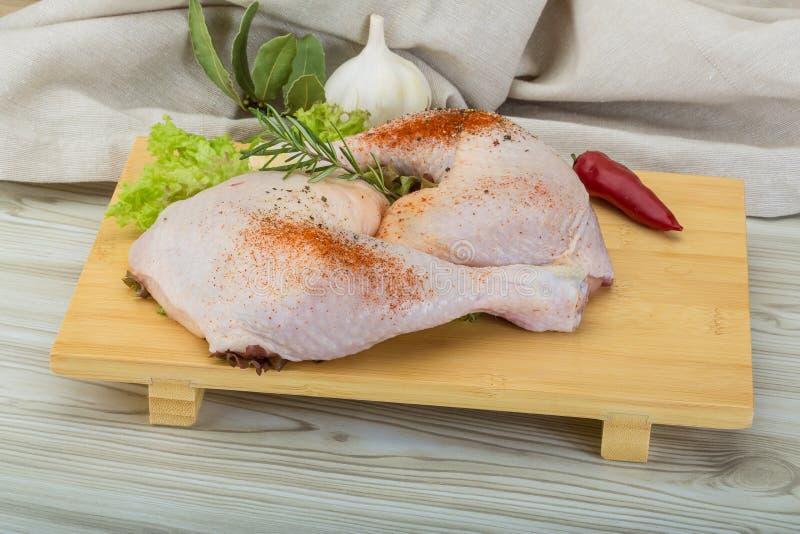 Cuisse de poulet image stock