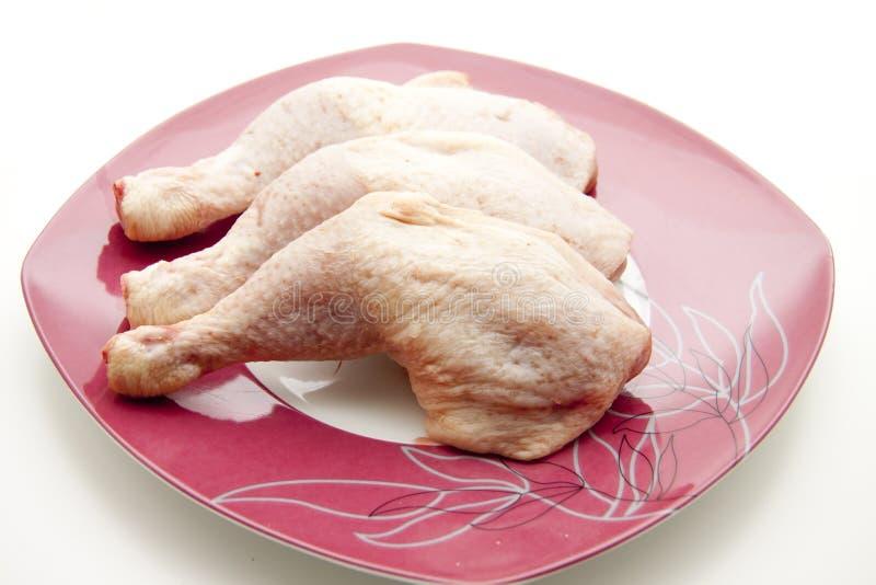 Cuisse de poulet crue photographie stock