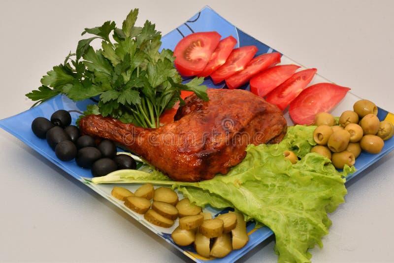 Cuisse de poulet grillée photos stock