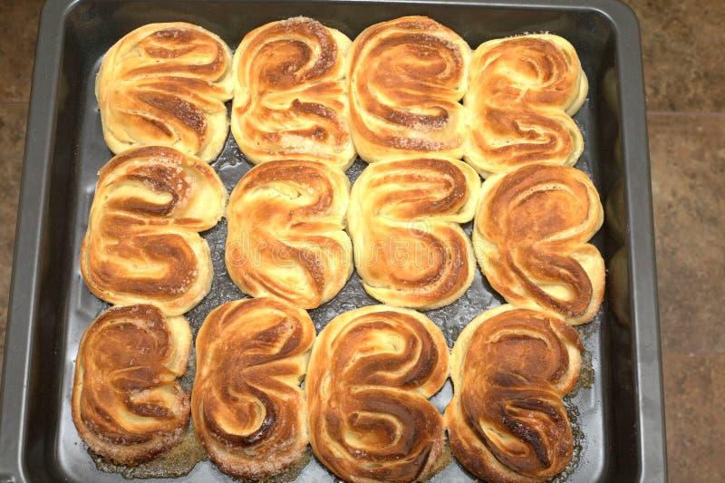 Cuisson cuite savoureuse sur le plan rapproché de plateau de cuisine images libres de droits