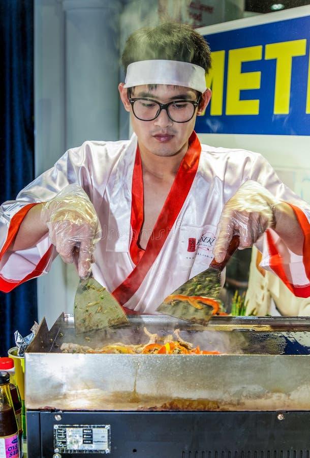 Cuisson de la cuisine orientale image libre de droits