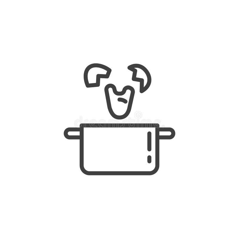 Cuisson de la ligne icône de Benedict d'oeufs illustration libre de droits