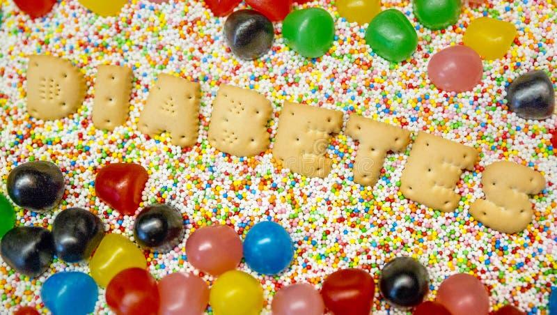 Cukier i diagnozuje cukrzyce zdjęcie royalty free