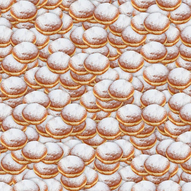 Cukier Zakrywająca pączek tekstury Bezszwowa płytka fotografia royalty free