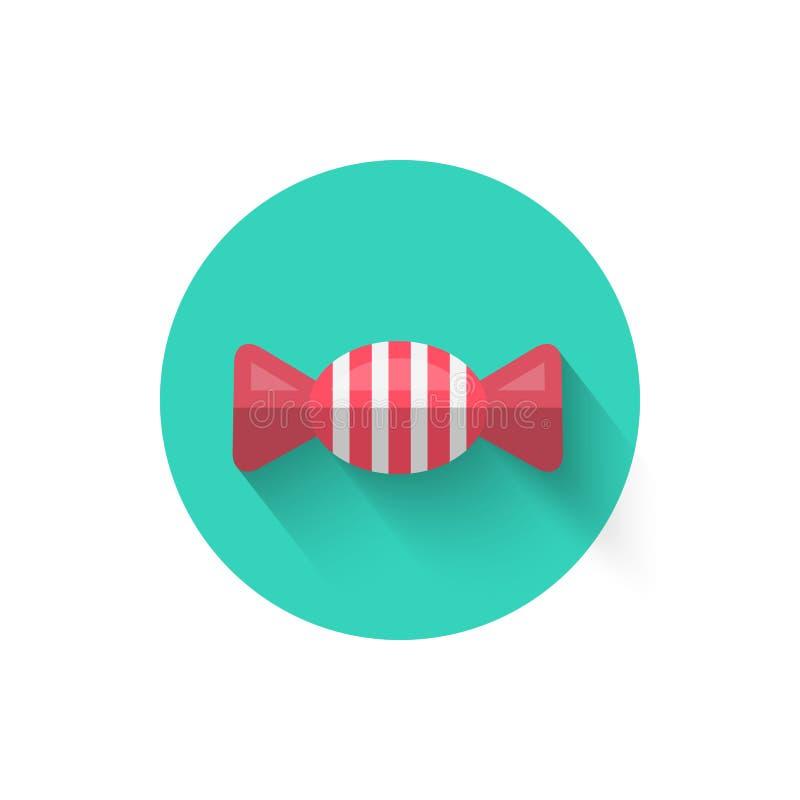 Cukierek ikony Odosobniona Wektorowa ilustracja Symbol jest lody deserem ilustracja wektor