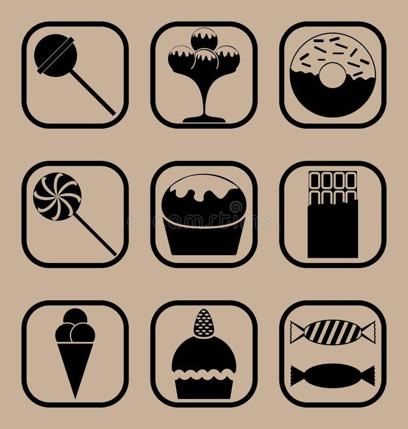 Cukierek ikony set ilustracja wektor