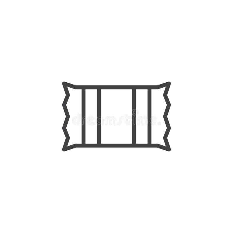 Cukierek kreskowa ikona ilustracji