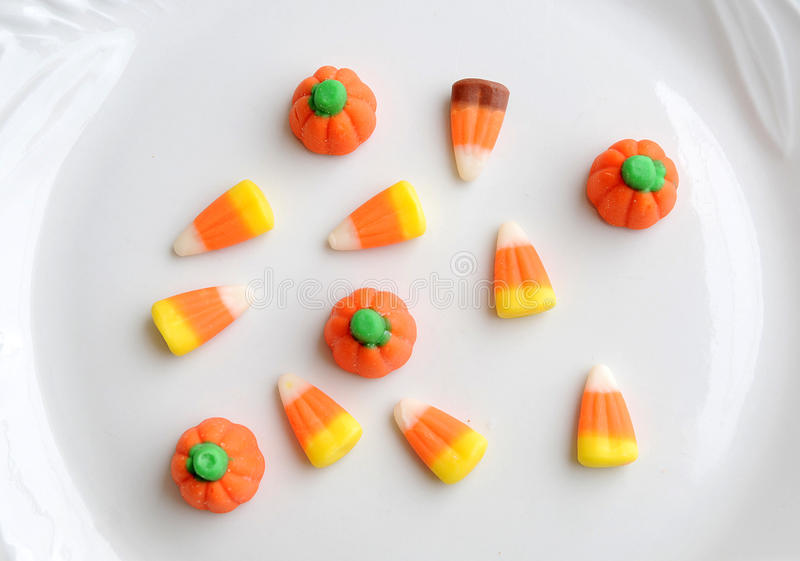 cukierek kukurudza Halloween zdjęcia royalty free