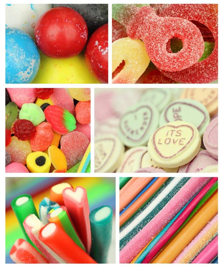Cukierek mikstury kolaż fotografia stock