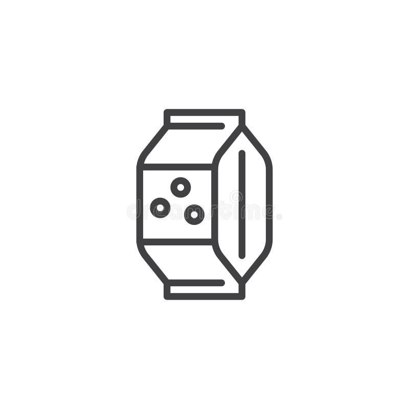 Cukierek paczki konturu ikona ilustracji