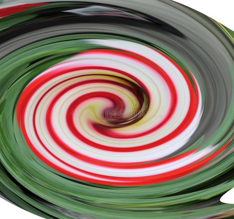Cukierek trzciny Vortex obraz stock
