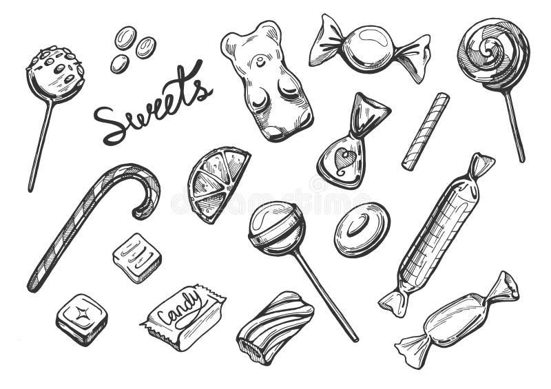 Cukierków cukierki ustawiający ilustracji