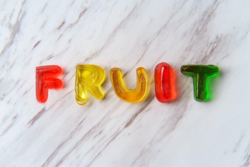 Cukierków listów czary owoc obrazy royalty free