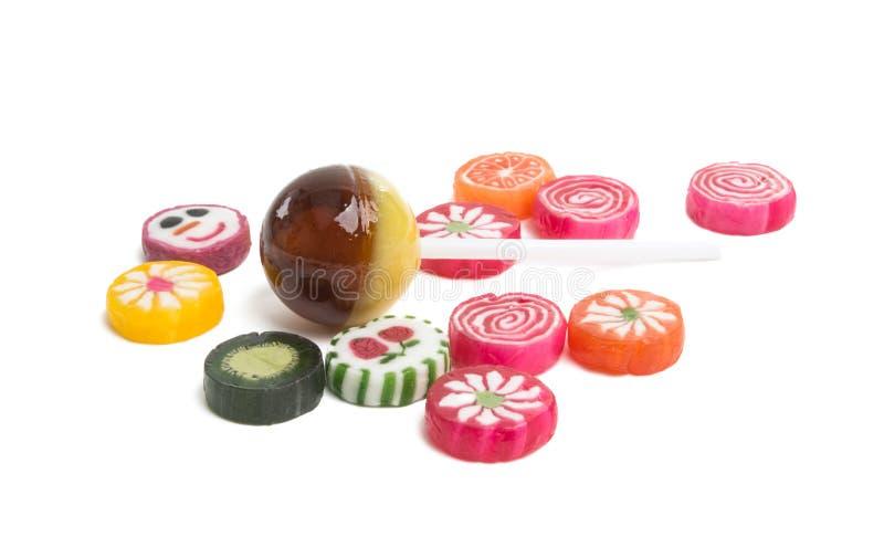 cukierków lizaki odizolowywający obraz royalty free