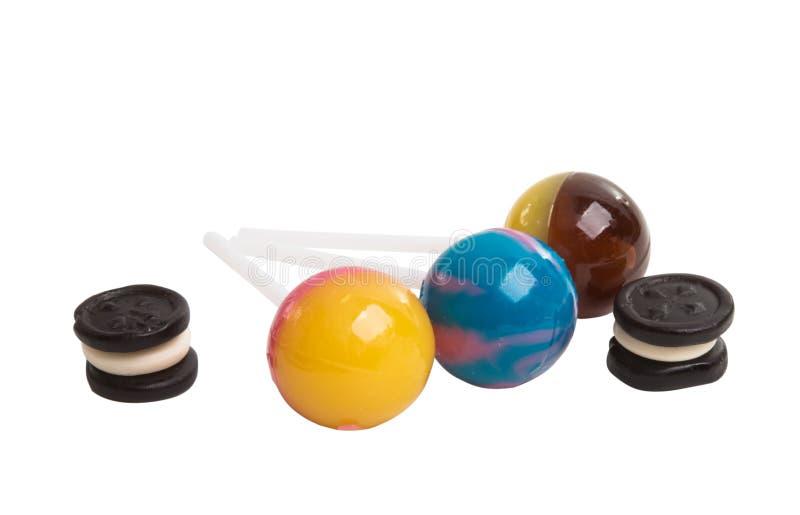 cukierków lizaki odizolowywający zdjęcie royalty free