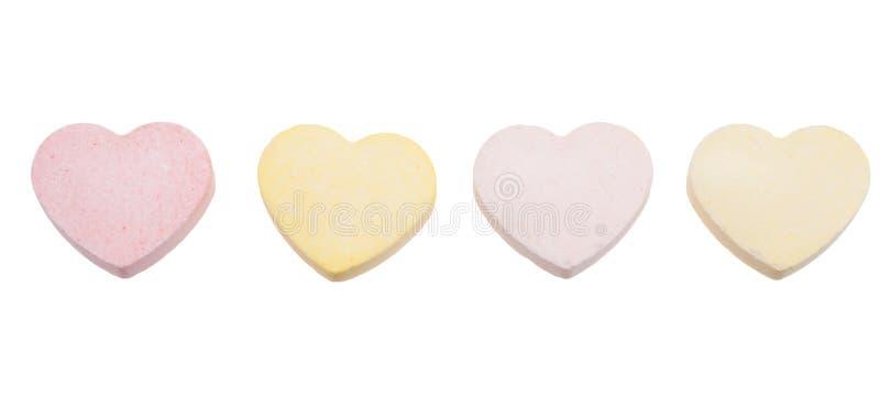 cukierków serca odizolowywali obraz stock