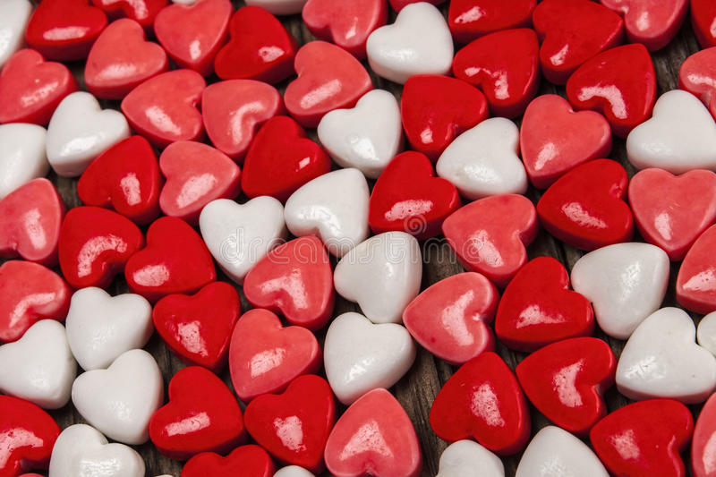 Cukierków serca, walentynki, dzień zdjęcia royalty free