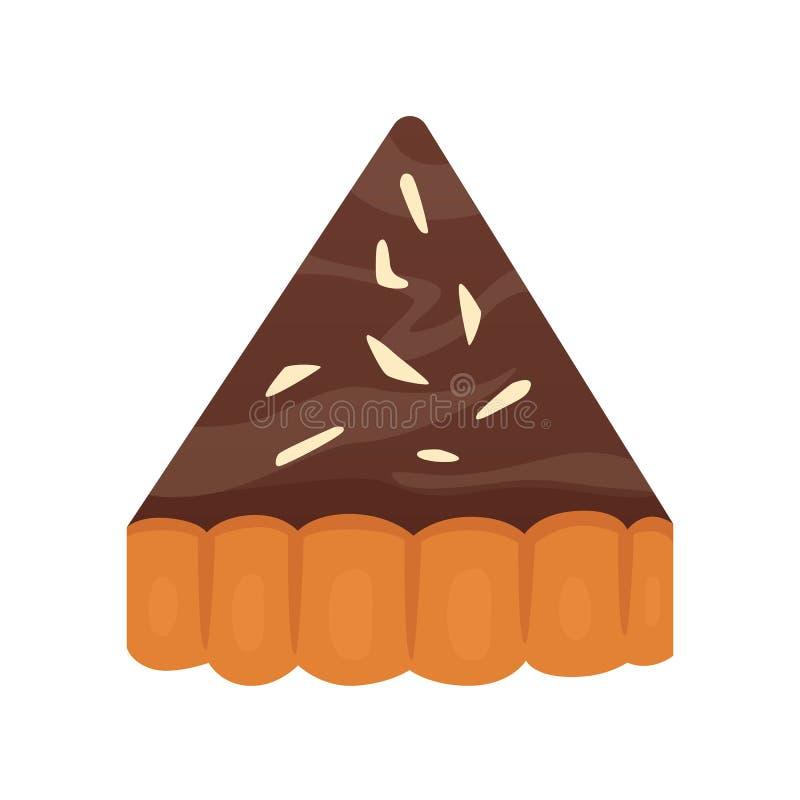 Cukierki czekolady deser protestuje kolekcję, kulebiak z śmietanką Domowej roboty piekarnia torta deseru wektor ilustracji