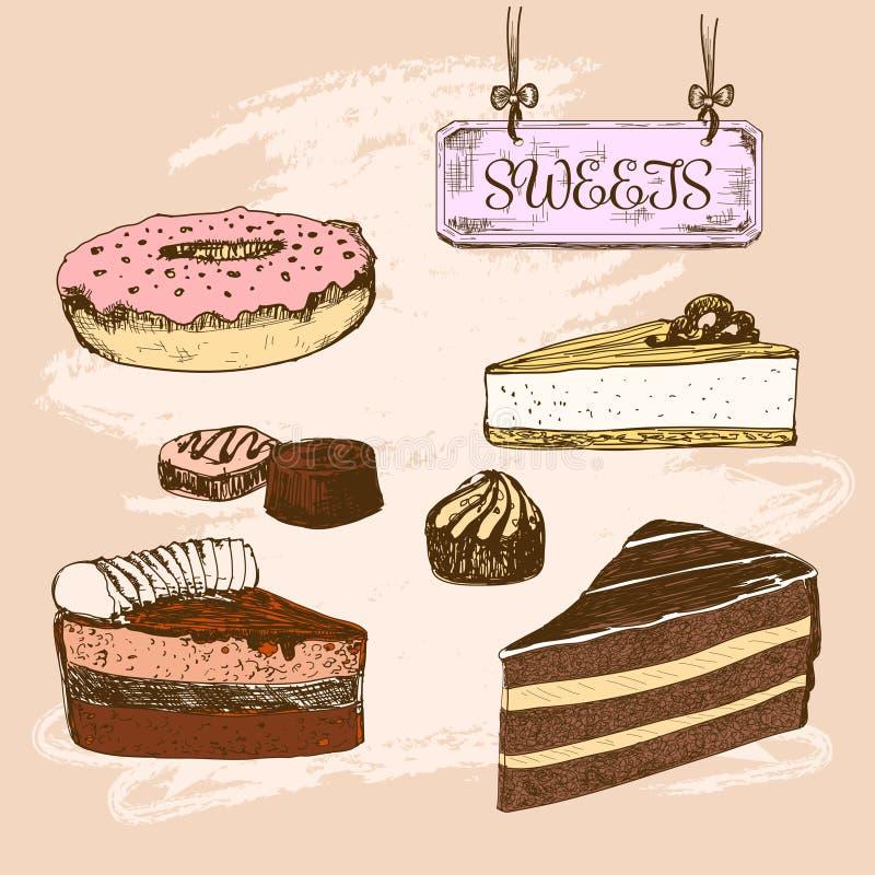 cukierki Deser royalty ilustracja