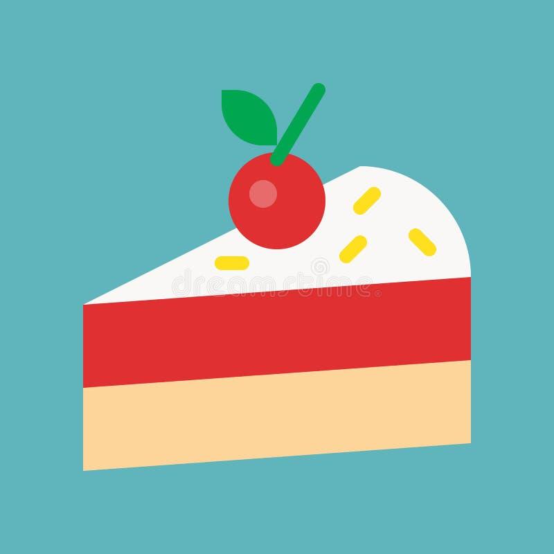 Cukierki i ciasto set, płaska projekt ikona royalty ilustracja