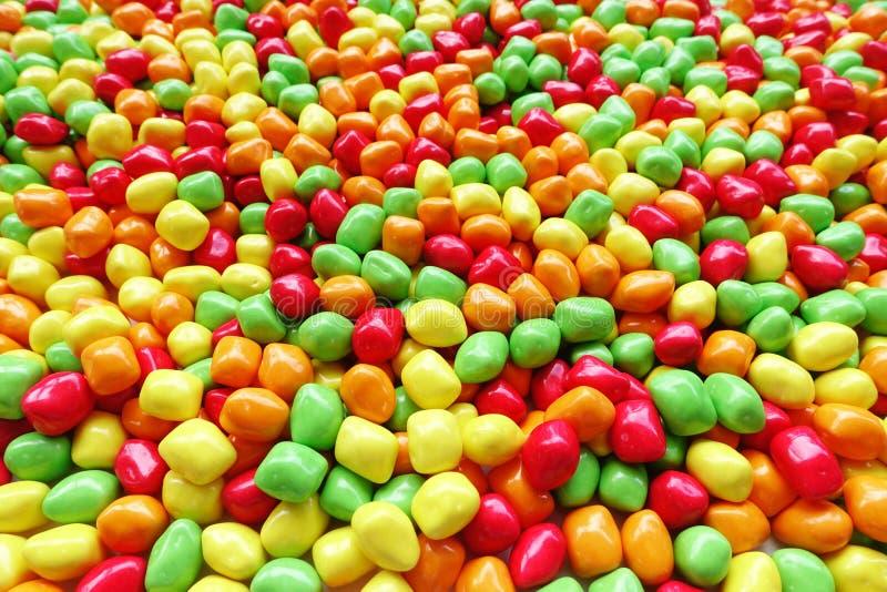 Cukierki i cukrowi cukierki kolorowi obraz stock