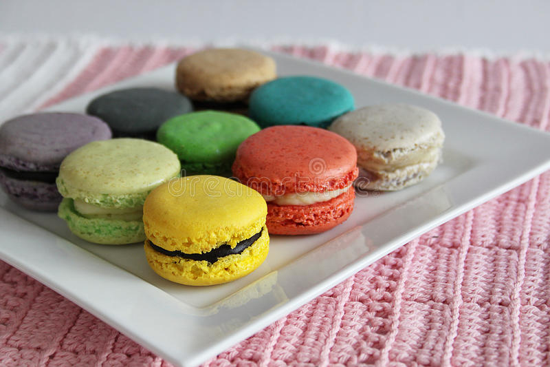 Cukierki i delikatności francuza macaroons zdjęcie royalty free